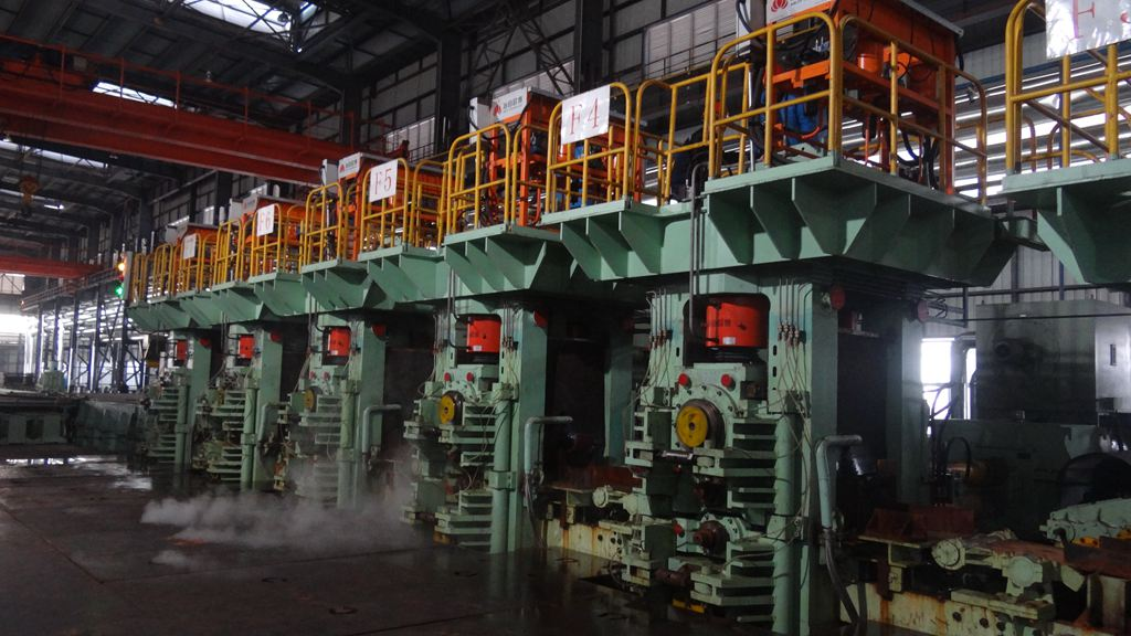 Finishing four-high rolling mill