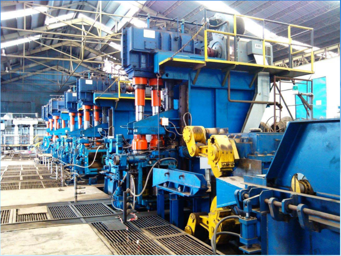 Full continuous rolling technology of steel bar hot rolling mill