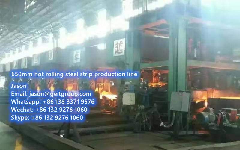 For sale: Used complete hot rolling steel strip production line